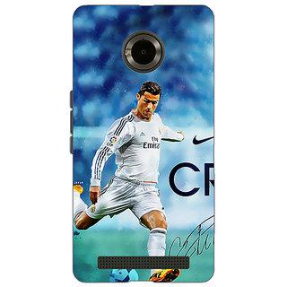Jugaaduu Cristiano Ronaldo Real Madrid Back Cover Case For Micromax Yu Yuphoria - J890313