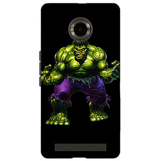 Jugaaduu Superheroes Hulk Back Cover Case For Micromax Yu Yuphoria - J890327