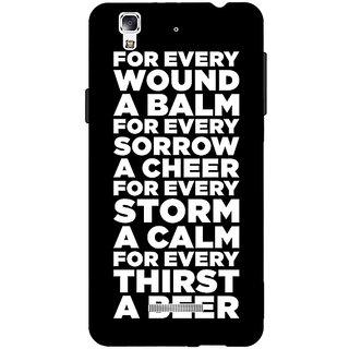 Jugaaduu Beer Quote Back Cover Case For Micromax Yu Yureka - J881216