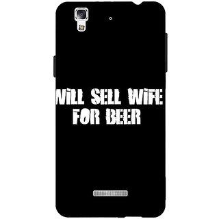 Jugaaduu Beer Quote Back Cover Case For Micromax Yu Yureka - J881240