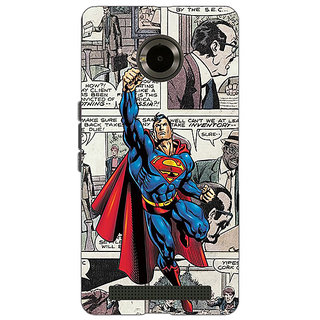 Jugaaduu Superheroes Superman Back Cover Case For Micromax Yu Yuphoria - J890029