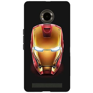 Jugaaduu Superheroes Ironman Back Cover Case For Micromax Yu Yuphoria - J890043