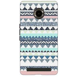 Jugaaduu Aztec Girly Tribal Back Cover Case For Micromax Yu Yuphoria - J890073