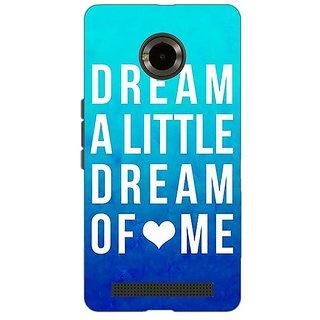 Jugaaduu Dream Love Back Cover Case For Micromax Yu Yuphoria - J890089