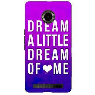 Jugaaduu Dream Love Back Cover Case For Micromax Yu Yuphoria - J890091