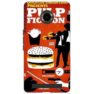 Jugaaduu Pulp Fiction Back Cover Case For Micromax Yu Yuphoria - J890355