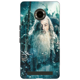 Jugaaduu LOTR Hobbit Gandalf Back Cover Case For Micromax Yu Yuphoria - J890363