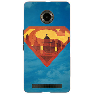 Jugaaduu Superheroes Superman Back Cover Case For Micromax Yu Yuphoria - J890388