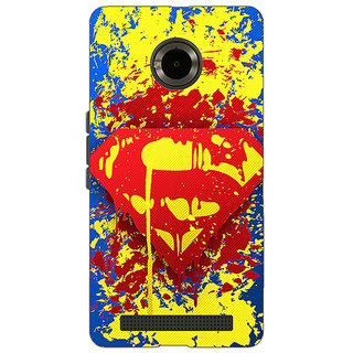 Jugaaduu Superheroes Superman Back Cover Case For Micromax Yu Yuphoria - J890392
