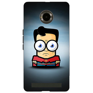 Jugaaduu Big Eyed Superheroes Superman Back Cover Case For Micromax Yu Yuphoria - J890397