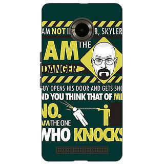 Jugaaduu Breaking Bad Heisenberg Back Cover Case For Micromax Yu Yuphoria - J890420