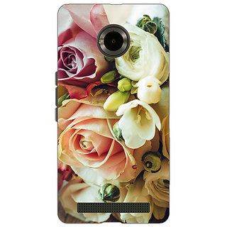 Jugaaduu Roses Back Cover Case For Micromax Yu Yuphoria - J890721