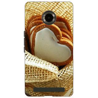 Jugaaduu Heart Cookies Back Cover Case For Micromax Yu Yuphoria - J890723