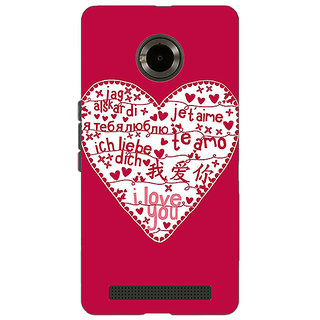 Jugaaduu Hearts Back Cover Case For Micromax Yu Yuphoria - J890741