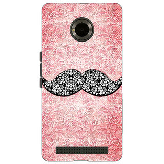 Jugaaduu Mustache Back Cover Case For Micromax Yu Yuphoria - J890752
