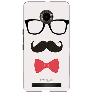 Jugaaduu Mustache Back Cover Case For Micromax Yu Yuphoria - J890756