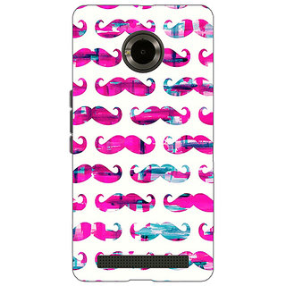 Jugaaduu Mustache Back Cover Case For Micromax Yu Yuphoria - J890760