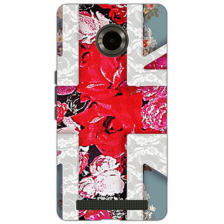 Jugaaduu Floral Back Cover Case For Micromax Yu Yuphoria - J890779