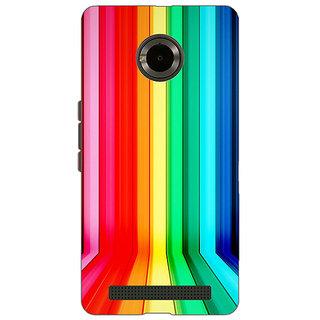 Jugaaduu Colour Bars Back Cover Case For Micromax Yu Yuphoria - J890833