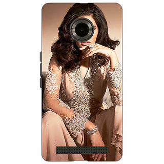 Jugaaduu Bollywood Superstar Nargis Fakhri Back Cover Case For Micromax Yu Yuphoria - J891075