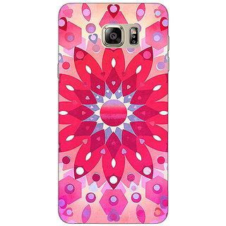 Jugaaduu Red Flower Pattern Back Cover Case For Samsung S6 Edge+ - J900256