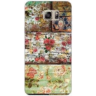 Jugaaduu Floral Pattern  Back Cover Case For Samsung S6 Edge+ - J900673