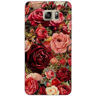 Jugaaduu Floral Pattern  Back Cover Case For Samsung S6 Edge+ - J900680