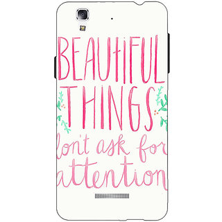 Jugaaduu Beautiful Quote Back Cover Case For Micromax Yu Yureka - J881367