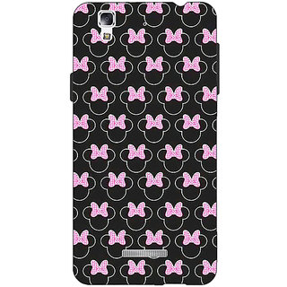 Jugaaduu Minnie Mouse Pattern Back Cover Case For Micromax Yu Yureka - J881386