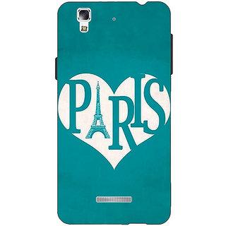 Jugaaduu Paris love Back Cover Case For Micromax Yu Yureka - J881404