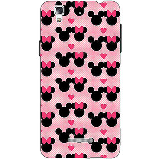 Jugaaduu Mickey Minnie Mouse Back Cover Case For Micromax Yu Yureka - J881417
