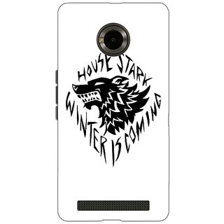 Jugaaduu Game Of Thrones GOT House Stark  Back Cover Case For Micromax Yu Yuphoria - J890127