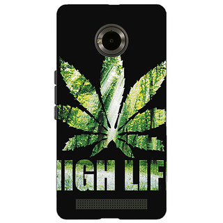 Jugaaduu Weed Marijuana Back Cover Case For Micromax Yu Yuphoria - J890496