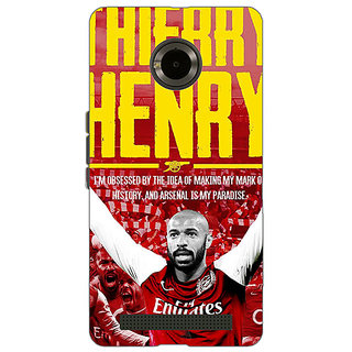 Jugaaduu Arsenal Therry Henry Back Cover Case For Micromax Yu Yuphoria - J890502