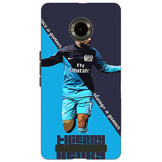 Jugaaduu Arsenal Therry Henry Back Cover Case For Micromax Yu Yuphoria - J890505