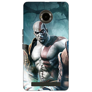 Jugaaduu God of War Back Cover Case For Micromax Yu Yuphoria - J890876