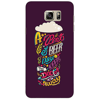 Jugaaduu Beer Quotes Back Cover Case For Samsung S6 Edge+ - J901438