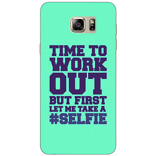 Jugaaduu Selfie Quote Back Cover Case For Samsung S6 Edge+ - J901499