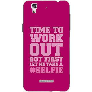 Jugaaduu Selfie Quote Back Cover Case For Micromax Yu Yureka - J881498