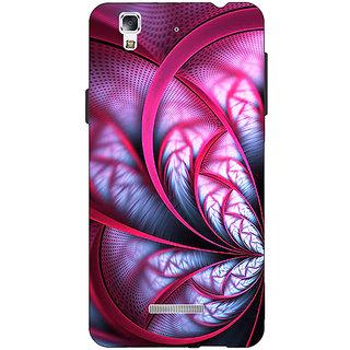 Jugaaduu Abstract Flower Pattern Back Cover Case For Micromax Yu Yureka - J881501