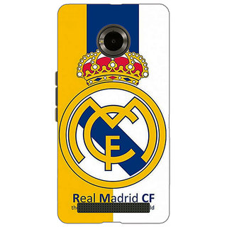 Jugaaduu Real Madrid Back Cover Case For Micromax Yu Yuphoria - J890591