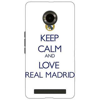 Jugaaduu Real Madrid Back Cover Case For Micromax Yu Yuphoria - J890600