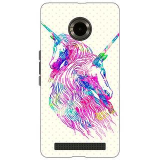Jugaaduu Unicorn  Back Cover Case For Micromax Yu Yuphoria - J890610