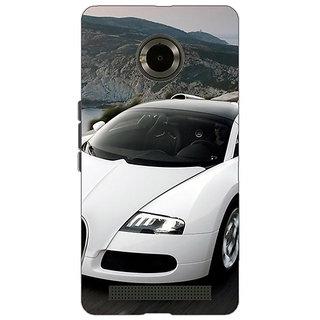Jugaaduu Super Car Bugatti Back Cover Case For Micromax Yu Yuphoria - J890628