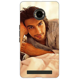 Jugaaduu Bollywood Superstar Ranveer Singh Back Cover Case For Micromax Yu Yuphoria - J890928