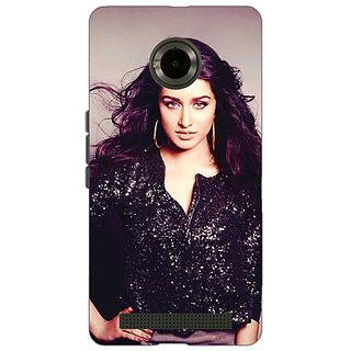 Jugaaduu Bollywood Superstar Shraddha Kapoor Back Cover Case For Micromax Yu Yuphoria - J890980