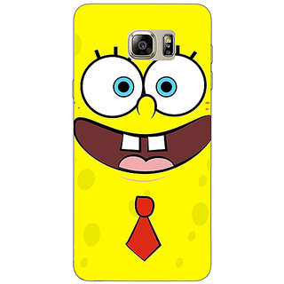 Jugaaduu Spongebob Back Cover Case For Samsung S6 Edge+ - J900461