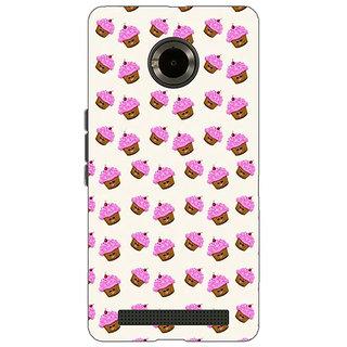 Jugaaduu Cupcake Love Back Cover Case For Micromax Yu Yuphoria - J890699