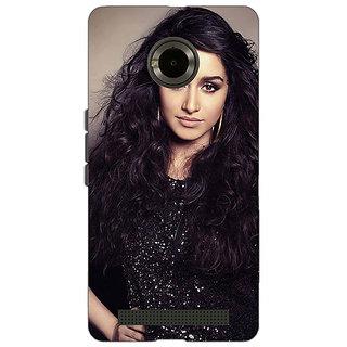 Jugaaduu Bollywood Superstar Shraddha Kapoor Back Cover Case For Micromax Yu Yuphoria - J891008