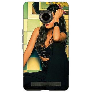 Jugaaduu Bollywood Superstar Katrina Kaif Back Cover Case For Micromax Yu Yuphoria - J891009